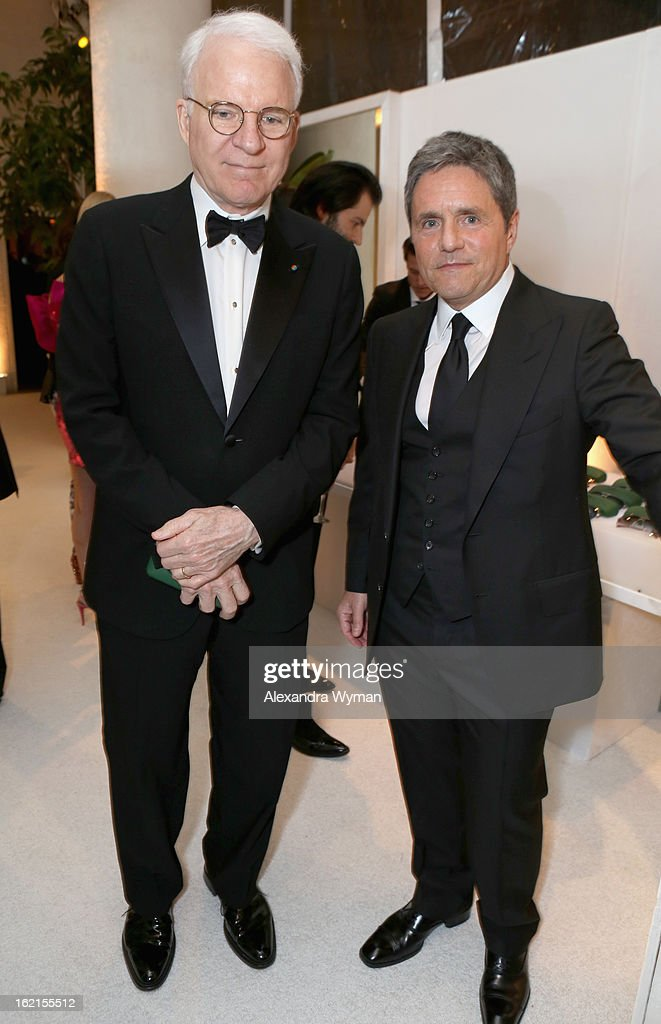 Actor Steve Martin (L) and Paramount Pictures Chairman/CEO Brad Grey attend the 15th Annual Costume Designers Guild Awards with presenting sponsor Lacoste at The Beverly Hilton Hotel on February 19, 2013 in Beverly Hills, California.