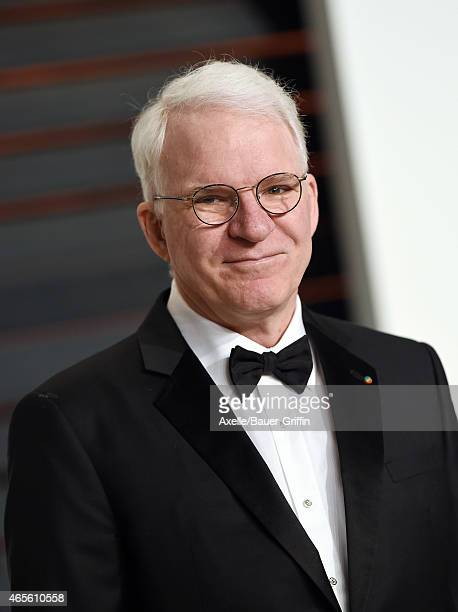 Actor Steve Martin arrives at the 2015 Vanity Fair Oscar Party Hosted By Graydon Carter at Wallis Annenberg Center for the Performing Arts on...