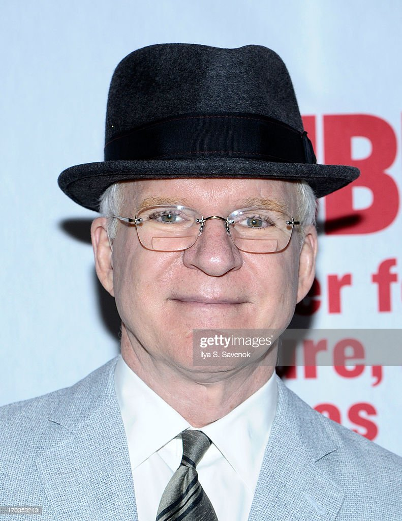 Actor <a gi-track='captionPersonalityLinkClicked' href=/galleries/search?phrase=Steve+Martin+-+Comedian&family=editorial&specificpeople=196544 ng-click='$event.stopPropagation()'>Steve Martin</a> attends Annual Public Theater Gala at Delacorte Theater on June 11, 2013 in New York City.