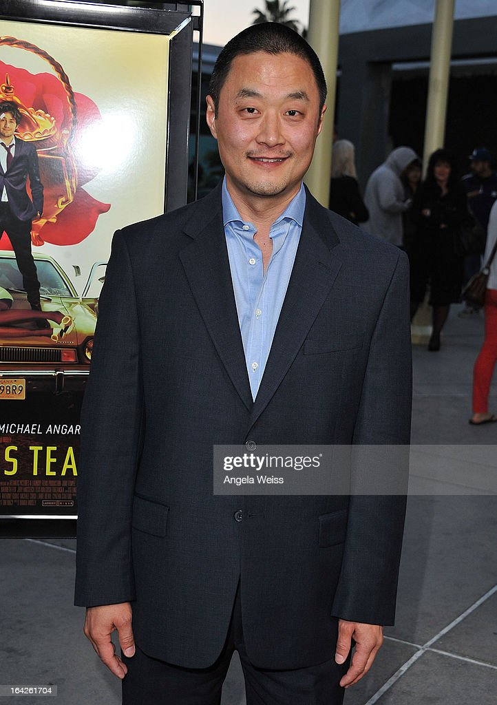 Actor <a gi-track='captionPersonalityLinkClicked' href=/galleries/search?phrase=Steve+Park&family=editorial&specificpeople=171907 ng-click='$event.stopPropagation()'>Steve Park</a> arrives to the LA screening of Magnolia Pictures' 'The Brass Teapot' at ArcLight Hollywood on March 21, 2013 in Hollywood, California.