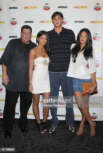Actor Steve Schirripa singer Cassie New York Knicks 2008 first round draft pick Danilo Gallinari and model Danielle Abreu attend the launch of...