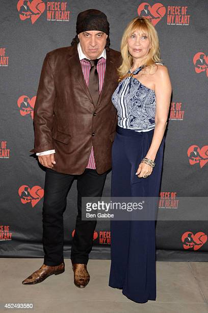Actor Steve van Zandt and Maureen van Zandt attend 'Piece of My Heart The Bert Berns Story' opening night at The Pershing Square Signature Center on...