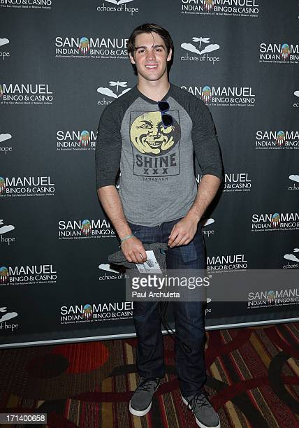 Actor Steven McQueen attends the Echoes Of Hope's 3rd annual Luc Robitaille celebrity charity poker tournament at JW Marriott Los Angeles at LA LIVE...