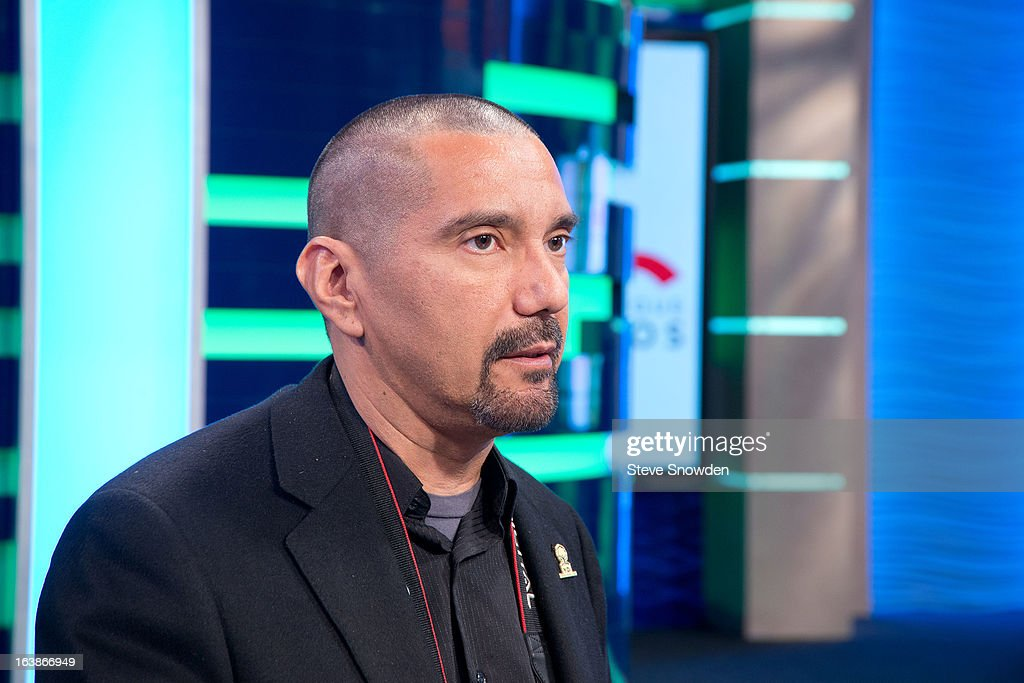 Actor Steven Michael Quezada poses prior to participating in a tribute during the ABQ Studios And Youth Development Inc. Honor The Cast Of 'Breaking Bad' on at Albuquerque Studios on March 16, 2013 in Albuquerque, New Mexico.