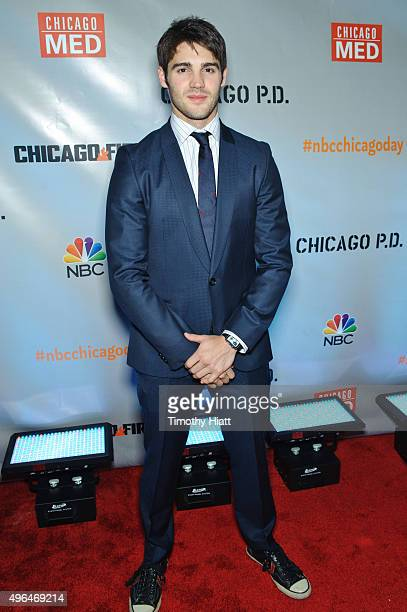 Actor Steven R McQueen attends a premiere party for NBC's 'Chicago Fire' 'Chicago PD' and 'Chicago Med' at STK Chicago on November 9 2015 in Chicago...