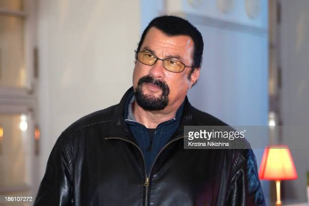 Actor Steven Seagal attends the MercedesBenz Fashion Week Russia S/S 2014 on October 28 2013 in Moscow Russia