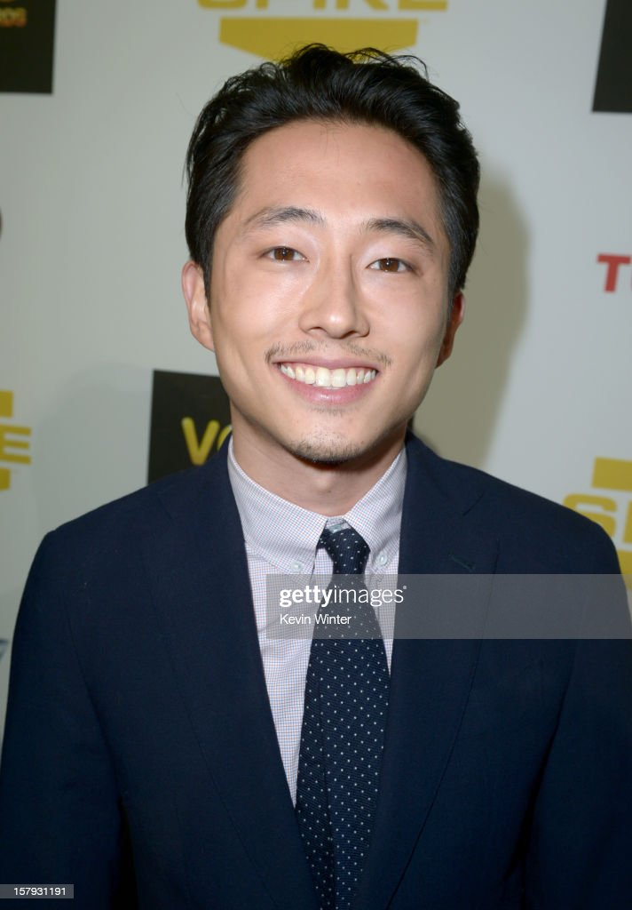 Actor Steven Yeun arrives at Spike TV's 10th annual Video Game Awards at Sony Pictures Studios on December 7 2012 in Culver City California
