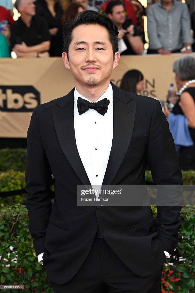 Actor Steven Yeun attends The 23rd Annual Screen Actors Guild Awards at The Shrine Auditorium on January 29, 2017 in Los Angeles, California. 26592_008