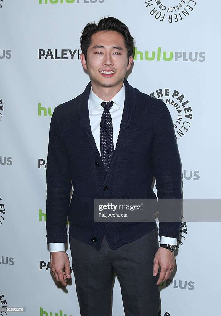Actor Steven Yeun attends the 30th Annual PaleyFest featuring the cast of 'The Walking Dead' at Saban Theatre on March 1, 2013 in Beverly Hills, California.