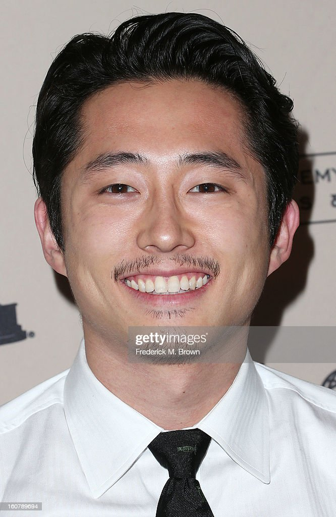 Actor Steven Yeun attends The Academy Of Television Arts & Sciences Presents An Evening With 'The Walking Dead' at the Leonard H. Goldenson Theatre on February 5, 2013 in North Hollywood, California.