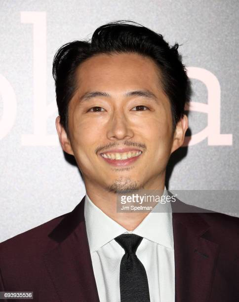 Actor Steven Yeun attends The New York premiere of 'Okja' hosted by Netflix at AMC Lincoln Square Theater on June 8 2017 in New York City
