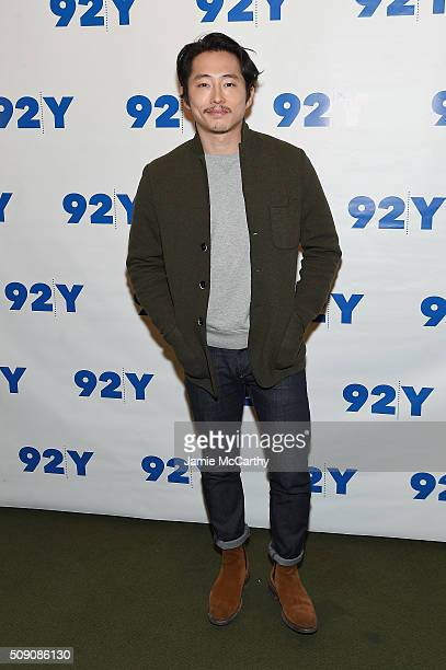 Actor Steven Yeun attends The Walking Dead Screening and Conversation at the 92nd St Y on February 8 2016 in New York City