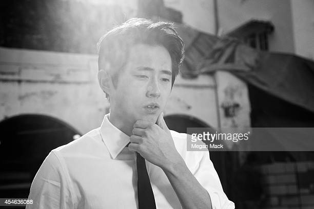 Actor Steven Yeun is photographed for Self Assignment on November 26 2010 in Los Angeles California
