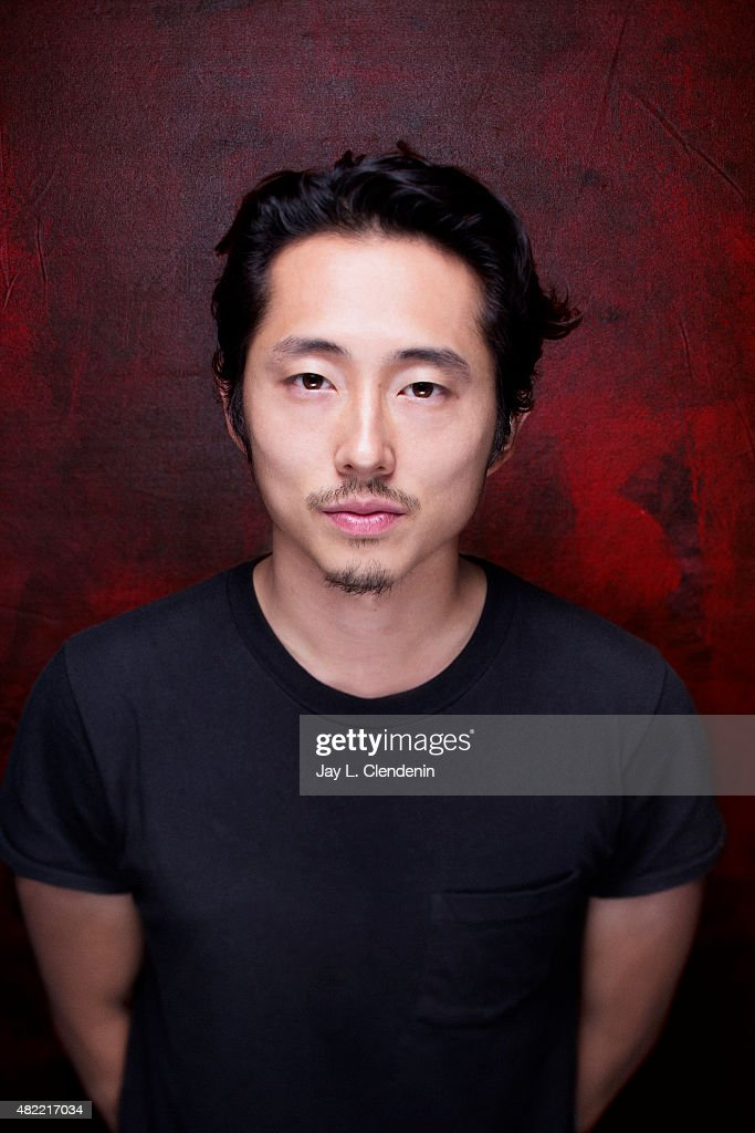 Actor Steven Yeun of 'The Walking Dead' poses for a portrait at Comic-Con International 2015 for Los Angeles Times on July 9, 2015 in San Diego, California. PUBLISHED IMAGE.