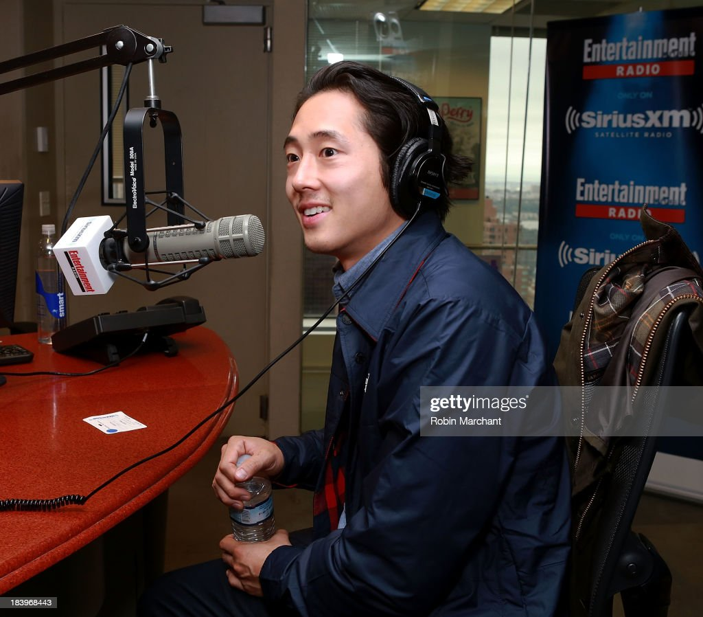 Actor <a gi-track='captionPersonalityLinkClicked' href=/galleries/search?phrase=Steven+Yeun&family=editorial&specificpeople=7249223 ng-click='$event.stopPropagation()'>Steven Yeun</a> visits 'TV Recap' on Entertainment Weekly Radio at SiriusXM Studios on October 10, 2013 in New York City.