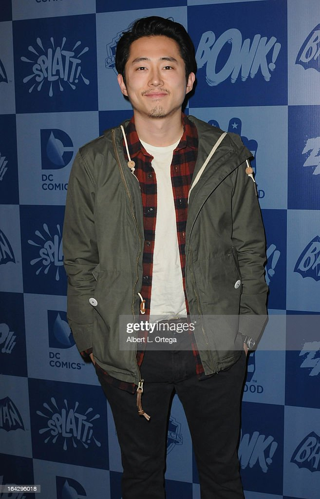 Actor Steven Yuen attends the Warner Bros. Consumer Products And Junk Food Celebrate The Launch Of The Batman Classic TV Series Licensing Program held at Meltdown Comics and Collectibles on March 21, 2013 in Hollywood, California.
