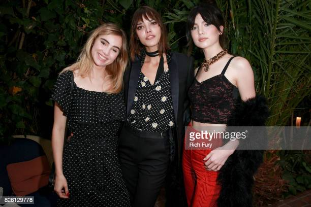 Actor Suki Waterhouse director Eva Dolezalova and actor Maya Henry attend the 'Carte Blanche' cast dinner and reception at the Chateau Marmont on...