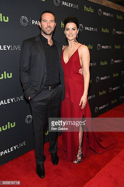 Actor Sullivan Stapleton and actress Jaimie Alexander attend PaleyLive NY An Evening With The Cast Creator Of 'Blindspot' at The Paley Center for...
