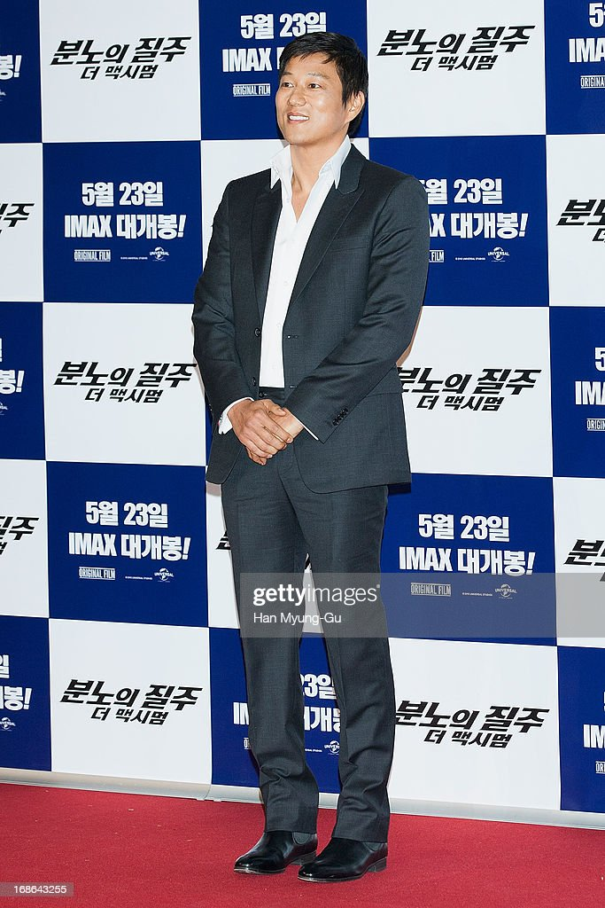 Actor <a gi-track='captionPersonalityLinkClicked' href=/galleries/search?phrase=Sung+Kang+-+Actor&family=editorial&specificpeople=2582012 ng-click='$event.stopPropagation()'>Sung Kang</a> attends the 'Fast & Furious 6' press conference on May 13, 2013 in Seoul, South Korea.