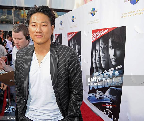 Actor Sung Kang attends Universal Studios Home Entertainment's DVD release of Fast Furious kick off with the US Premiere of Vin Diesel's original...