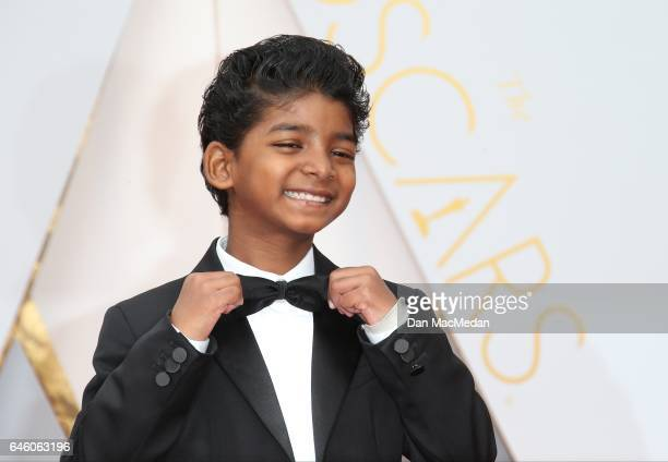 Actor Sunny Pawar arrives at the 89th Annual Academy Awards at Hollywood Highland Center on February 26 2017 in Hollywood California