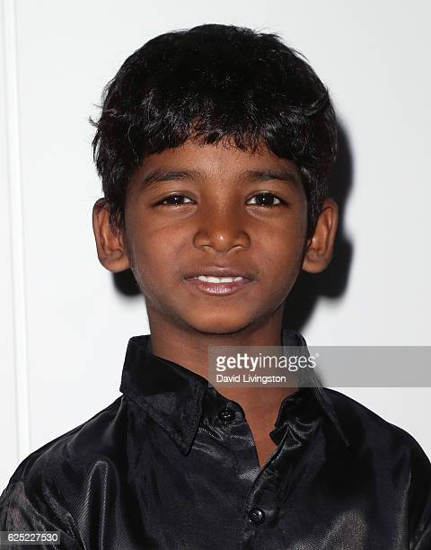 Actor Sunny Pawar attends a Los Angeles special screening of The Weinstein Co's 'Lion' at the Samuel Goldwyn Theater on November 22 2016 in Beverly...