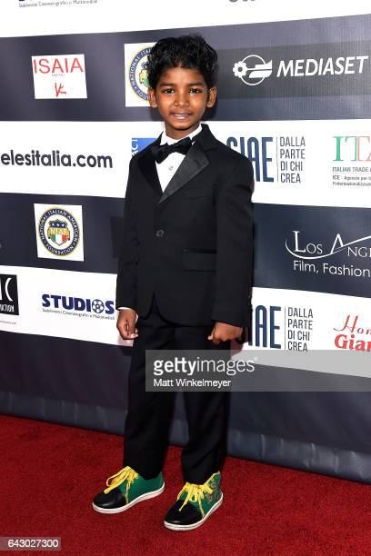 Actor Sunny Pawar attends the 12th Edition of The Los Angeles Italia Film Fashion and Art Fest at TCL Chinese 6 Theatres on February 19 2017 in...