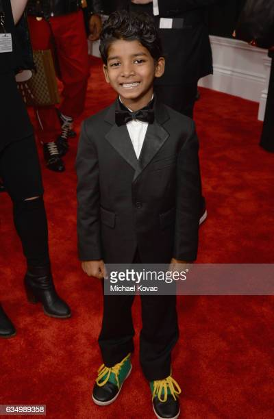 Actor Sunny Pawar attends The 59th GRAMMY Awards at STAPLES Center on February 12 2017 in Los Angeles California