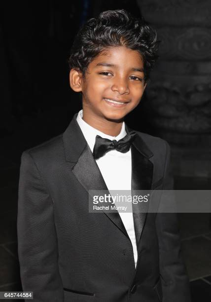Actor Sunny Pawar attends The Weinstein Company's Academy Awards viewing and after party in partnership with Grey Goose at TAO Los Angeles on...