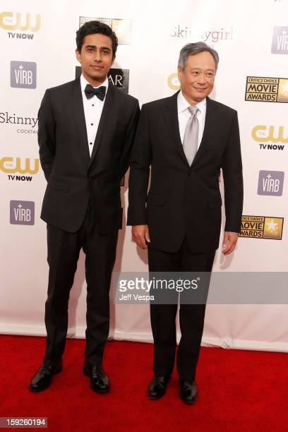 Actor Suraj Sharma and director Ang Lee arrive at the 18th Annual Critics' Choice Movie Awards at The Barker Hangar on January 10 2013 in Santa...