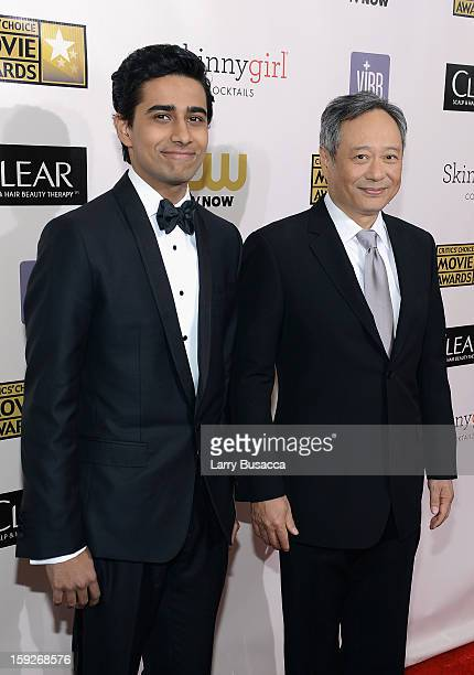 Actor Suraj Sharma and director Ang Lee attend the 18th Annual Critics' Choice Movie Awards held at Barker Hangar on January 10 2013 in Santa Monica...