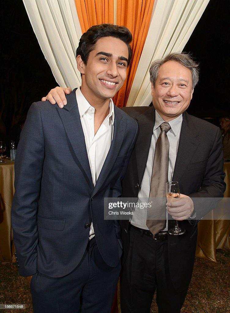 Actor Suraj Sharma and director <a gi-track='captionPersonalityLinkClicked' href=/galleries/search?phrase=Ang+Lee&family=editorial&specificpeople=215104 ng-click='$event.stopPropagation()'>Ang Lee</a> attend the after-party for a special screening of 20th Century Fox and Fox 2000's 'Life of Pi' at Zanuck Theater at 20th Century Fox Lot on November 16, 2012 in Los Angeles, California.