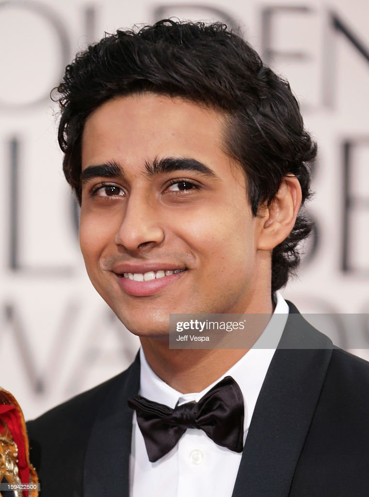 Actor <a gi-track='captionPersonalityLinkClicked' href=/galleries/search?phrase=Suraj+Sharma&family=editorial&specificpeople=9768453 ng-click='$event.stopPropagation()'>Suraj Sharma</a> arrives at the 70th Annual Golden Globe Awards held at The Beverly Hilton Hotel on January 13, 2013 in Beverly Hills, California.