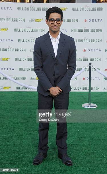 Actor Suraj Sharma arrives at the Los Angeles premiere of 'Million Dollar Arm' at the El Capitan Theatre on May 6 2014 in Hollywood California