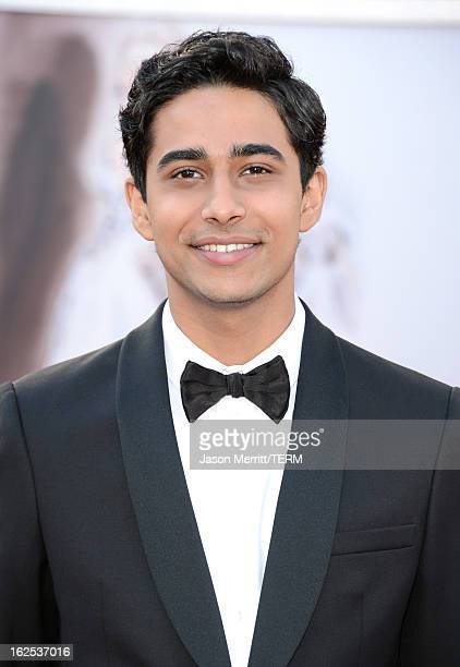 Actor Suraj Sharma arrives at the Oscars at Hollywood Highland Center on February 24 2013 in Hollywood California