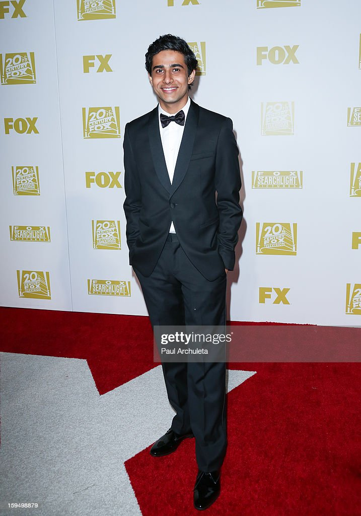 Actor <a gi-track='captionPersonalityLinkClicked' href=/galleries/search?phrase=Suraj+Sharma&family=editorial&specificpeople=9768453 ng-click='$event.stopPropagation()'>Suraj Sharma</a> attends the FOX after party for the 70th Golden Globes award show at The Beverly Hilton Hotel on January 13, 2013 in Beverly Hills, California.