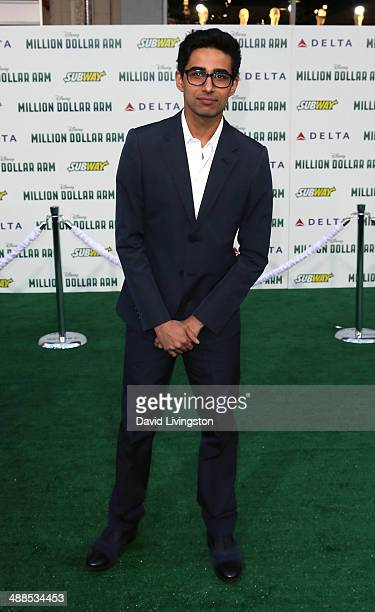 Actor Suraj Sharma attends the premiere of Disney's 'Million Dollar Arm' at the El Capitan Theatre on May 6 2014 in Hollywood California