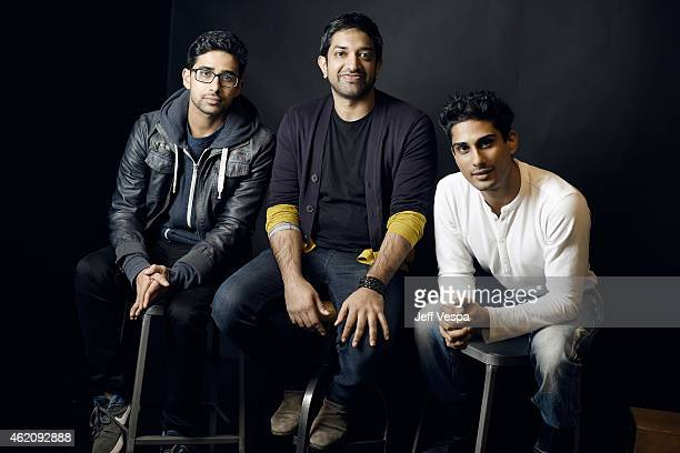 Actor Suraj Sharma director/writer Prashant Nair and actor Prateik Babbar from 'Umrika' pose for a portrait at the Village at the Lift Presented by...