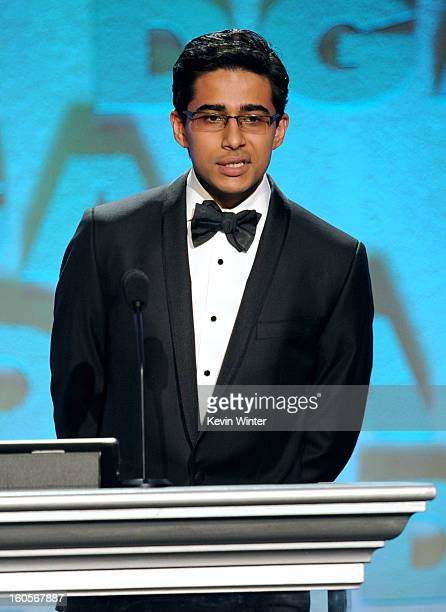 Actor Suraj Sharma speaks onstage during the 65th Annual Directors Guild Of America Awards at Ray Dolby Ballroom at Hollywood Highland on February 2...
