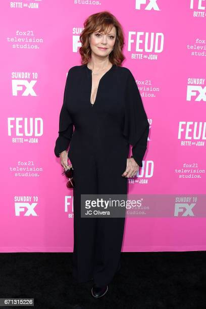 Actor Susan Sarandon attends FX's 'Feud Bette And Joan' FYC event at The Wilshire Ebell Theatre on April 21 2017 in Los Angeles California
