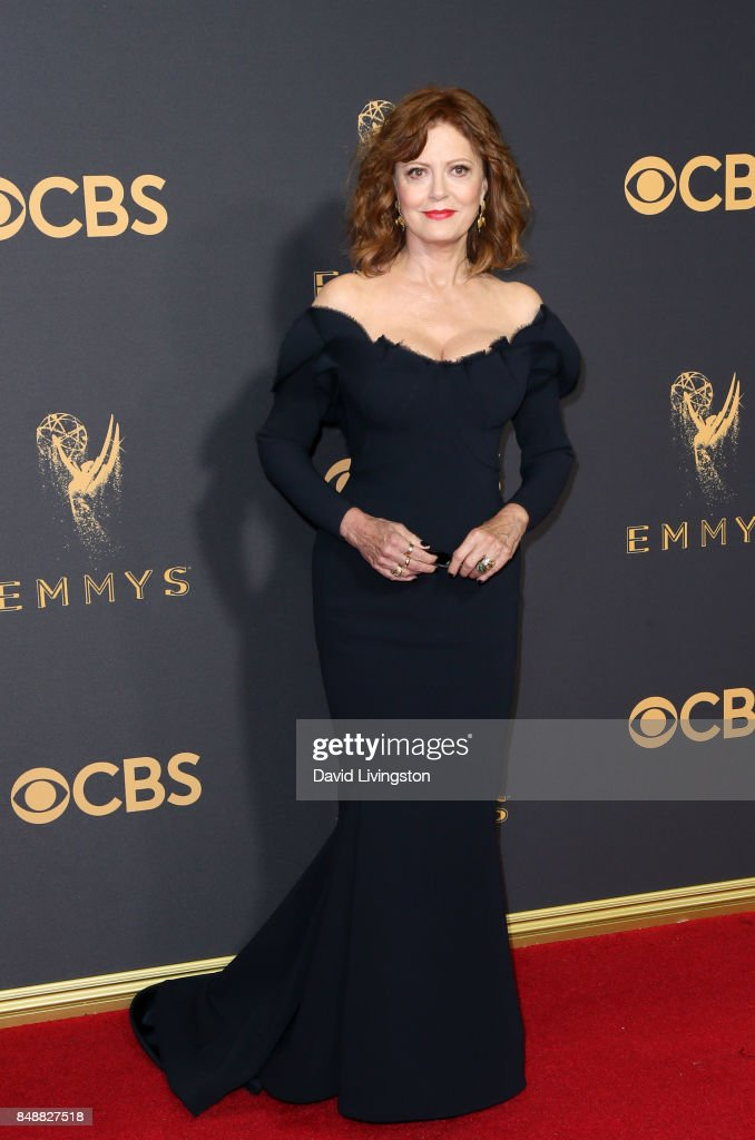 Actor Susan Sarandon attends the 69th Annual Primetime Emmy Awards - Arrivals at Microsoft Theater on September 17, 2017 in Los Angeles, California.