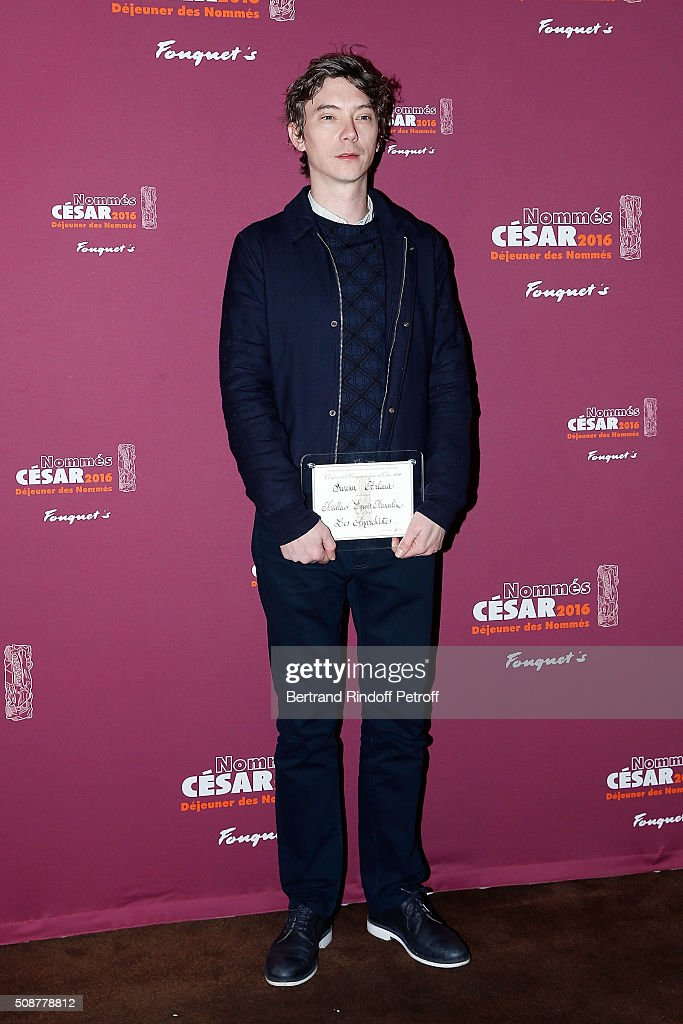 Actor Swann Arlaud attends 'Cesar 2016 Nominee Luncheon' at Le Fouquet's on February 6, 2016 in Paris, France.