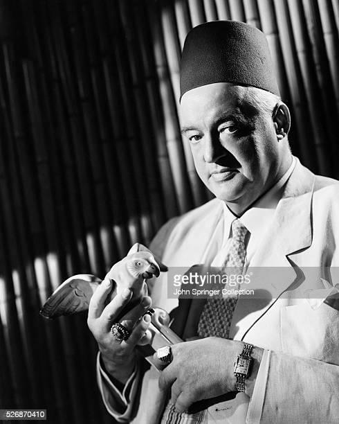 Actor Sydney Greenstreet in Casablanca