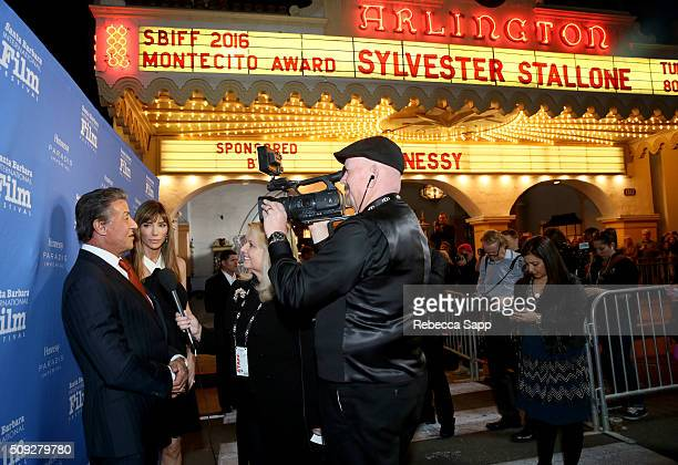 Actor Sylvester Stallone and Model Jennifer Flavin attend the Montecito Award at the Arlington Theater at the 31st Santa Barbara International Film...