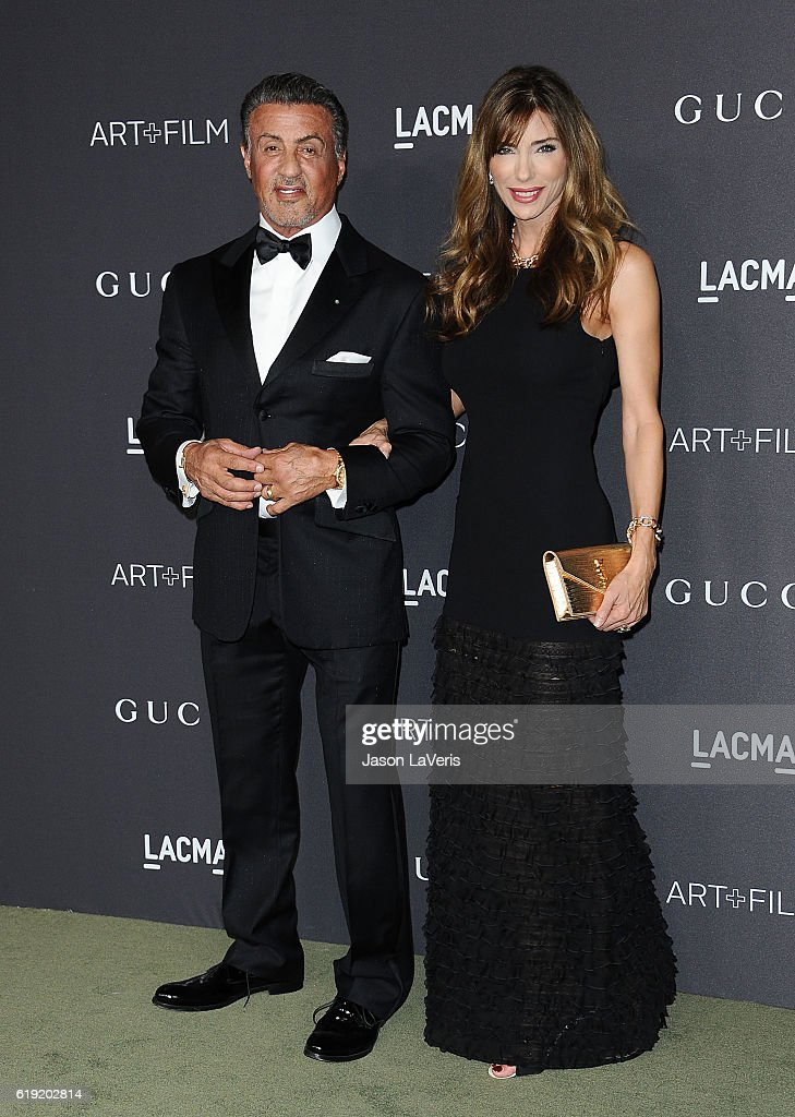 Actor Sylvester Stallone and wife Jennifer Flavin attend the 2016 LACMA Art + Film gala at LACMA on October 29, 2016 in Los Angeles, California.