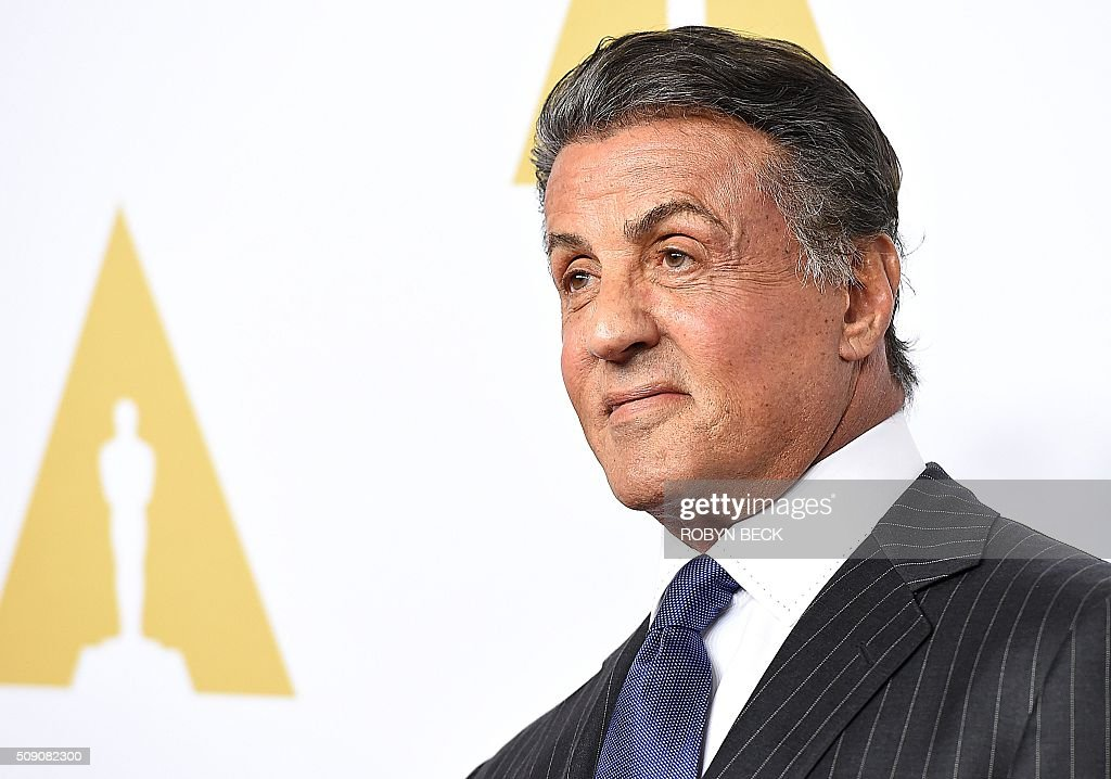 Actor Sylvester Stallone arrives at the 88th Oscar Nominees Luncheon in Beverly Hills, California, February 8, 2016. / AFP / ROBYN BECK