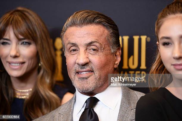 Actor Sylvester Stallone arrives at the Hollywood Foreign Press Association and InStyle celebrate the 2017 Golden Globe Award Season at Catch LA on...