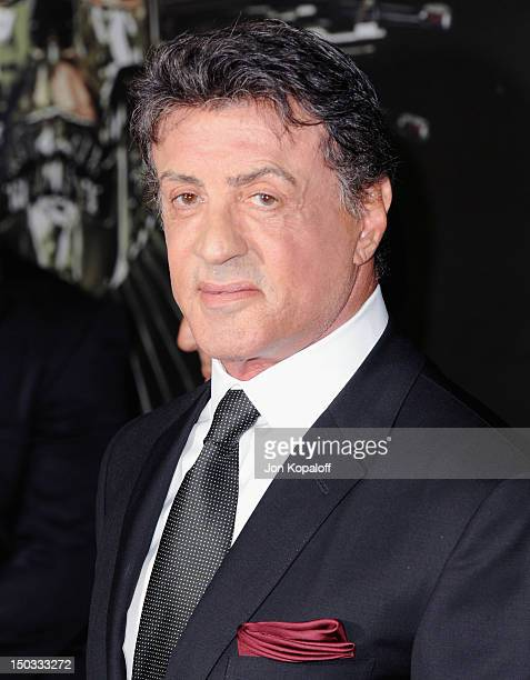 Actor Sylvester Stallone arrives at the Los Angeles Premiere 'The Expendables 2' at Grauman's Chinese Theatre on August 15 2012 in Hollywood...