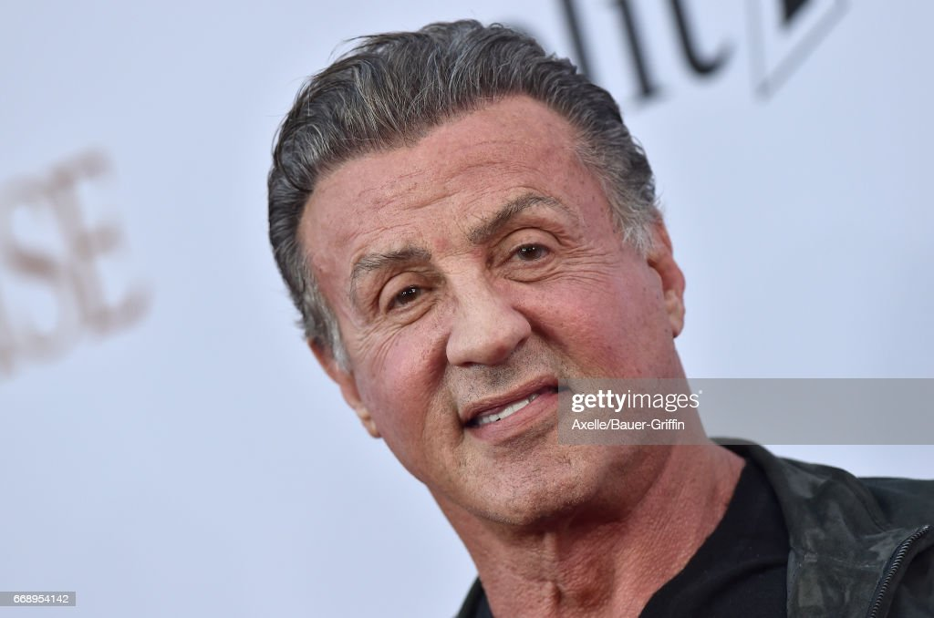 Actor Sylvester Stallone arrives at the Premiere of Open Road Films' 'The Promise' at TCL Chinese Theatre on April 12, 2017 in Hollywood, California.