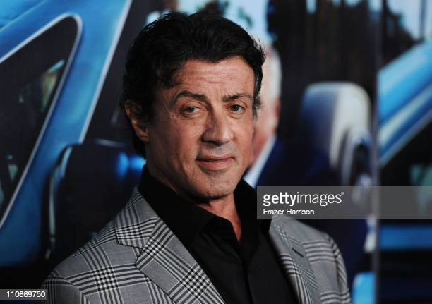 Actor Sylvester Stallone arrives at the premiere of the HBO documentary 'His Way' at Paramount Studios on March 22 2011 in Hollywood California